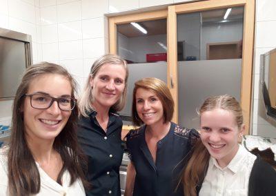 Verena, Silke, Nicole und Fabienne